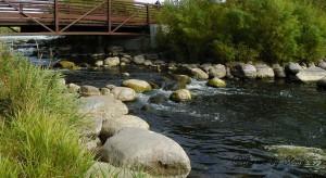 Natural Rock Dam and Dunton Locks on Lake Sallie
